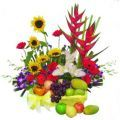 Crab Crawl, Stargazers, Sunflowers, Orchids & Gerberas with plenty of the juiciest fresh fruits.